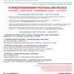 Ars Musica 2021 koncerty konkursy